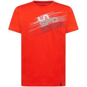 La Sportiva Stripe Evo T-shirt Heren, poppy